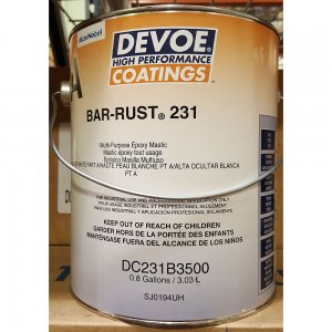 Devoe Bar Rust 231 - Surface Tolerant Epoxy - Semi Gloss - White 1g