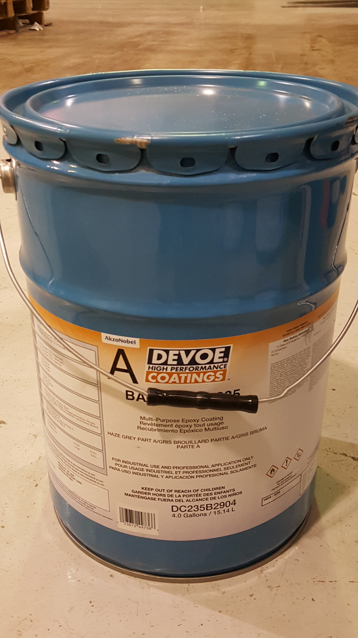 Devoe Bar-Rust 235, Surface Tolerant Epoxy, Haze Gray, 5-gal