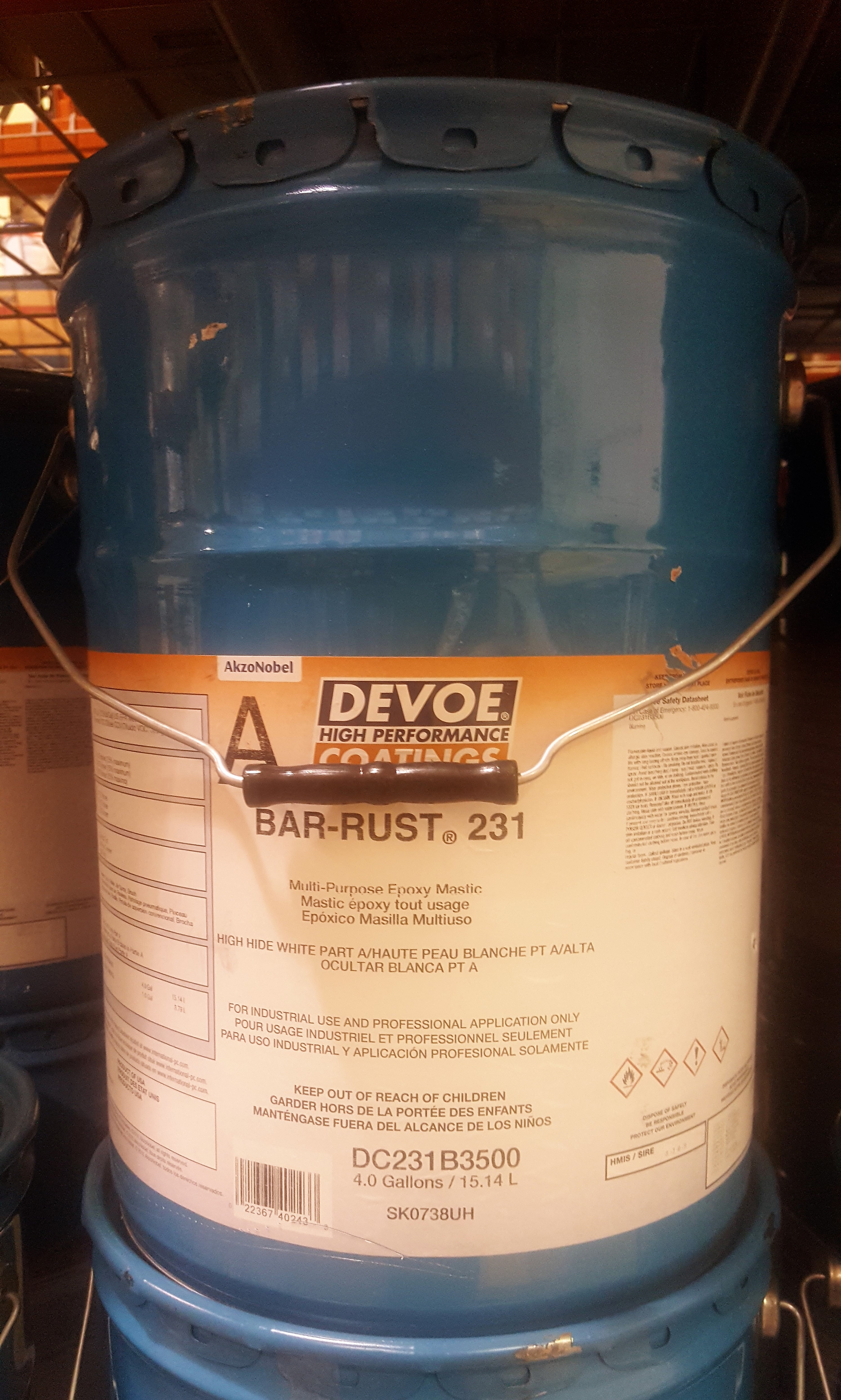 Devoe BarRust 231, Surface Tolerant Epoxy, Haze Gray, 5-Gal