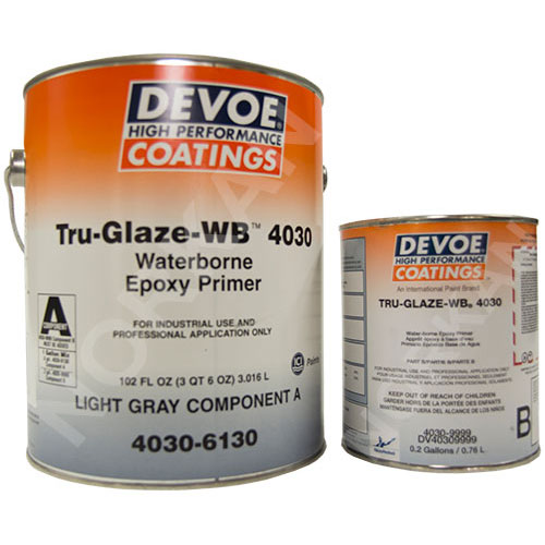 Devoe Tru-Glaze 4030 - Water Based Epoxy Primer - Gray 1g